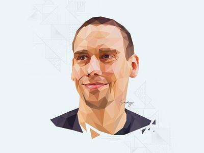 Peter Theill portrait illustration lowpoly