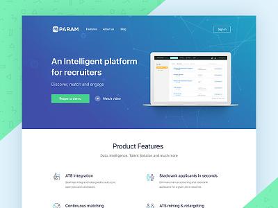 Param.ai Landing Page product landing clean hiring ai landing page