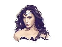 Low Poly Portrait - Wonder Woman