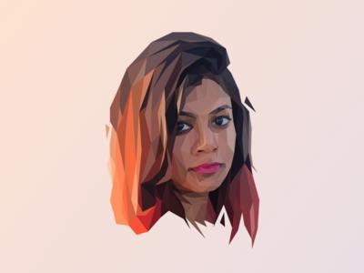 Rosaleen Sahoo illustration portrait lowpoly