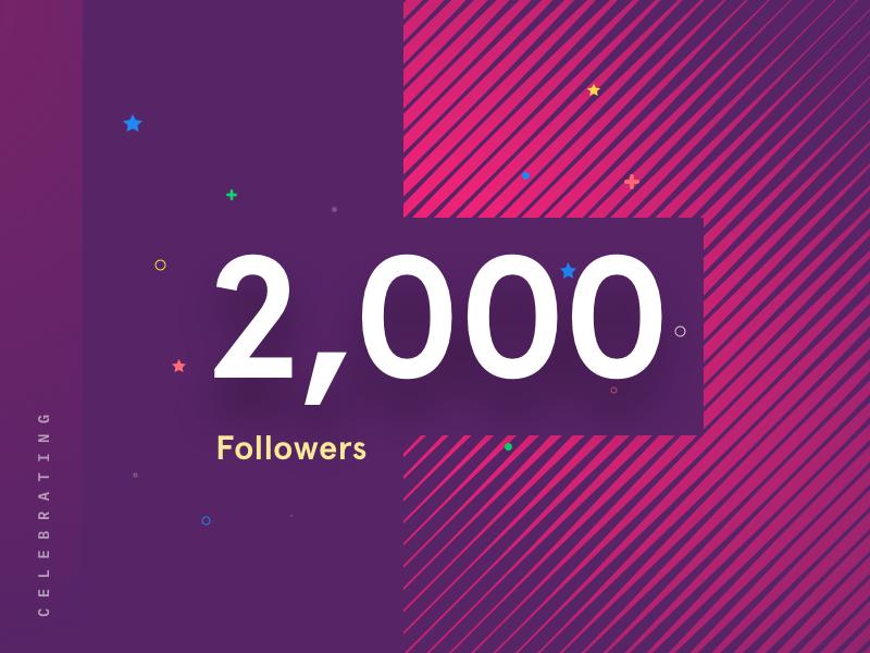 Celebrating 2k Followers thank you followers 2k