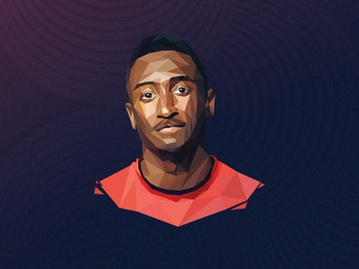 Marquees Brownlee illustration portrait lowpoly