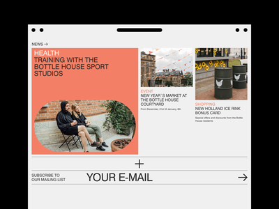 Bottle House Main Page (Sliced) editorial red design website ui typography