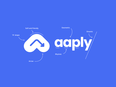 Aaply Visual Identity colorful colors line product startup saas visual identity outdoor ad advertising cursor arrow character 3d design branding logo typography
