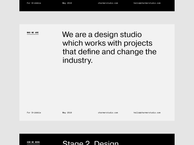 Charmer Presentation layout clean grid slides presentation design presentation animation typography