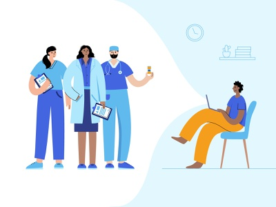 Online medical consultation diagnosis home consultation doctor healthcare telehealth worldwide virtual medicine medical care design online medical woman man character vector minimal flat illustration