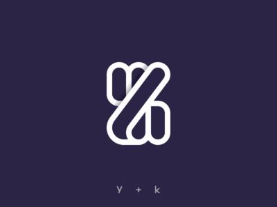 """""""y + k"""" Monogram"""