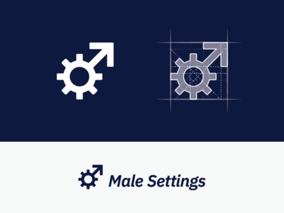 Male Settings Logo Grid