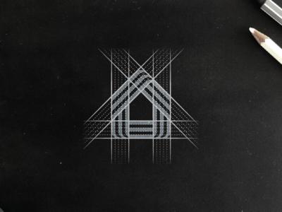 Home Icon Stripes Grid