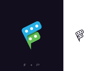 """""""F + Chat"""" Logo Concept"""
