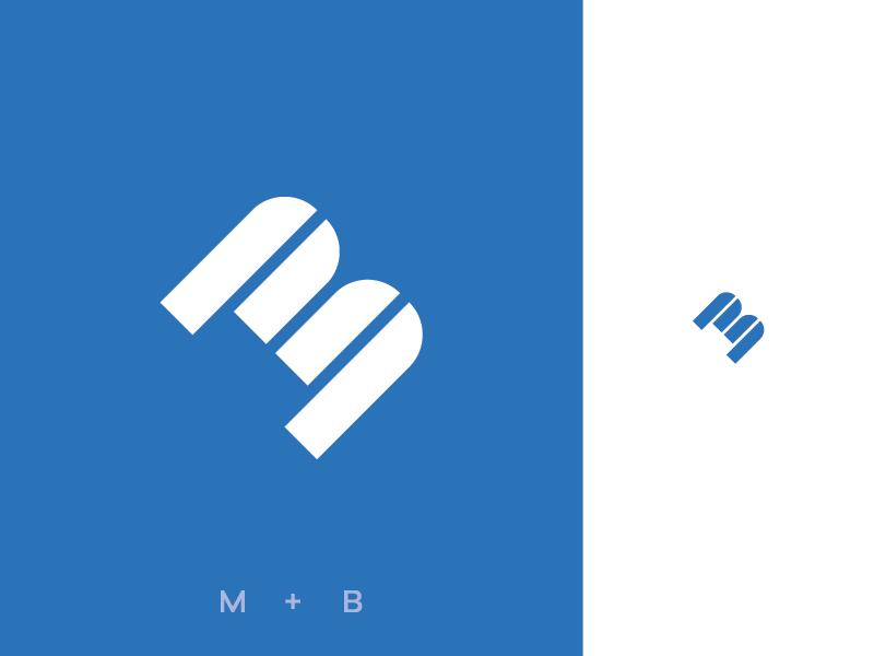 """M + B"" Monogram letter m letter b typography brand design brand design identity monogram logodesign brand identity modern illustrator minimalist icon logo design branding identity design logos logo"