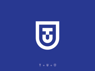 """T + U + Shield"" Logo Concept"