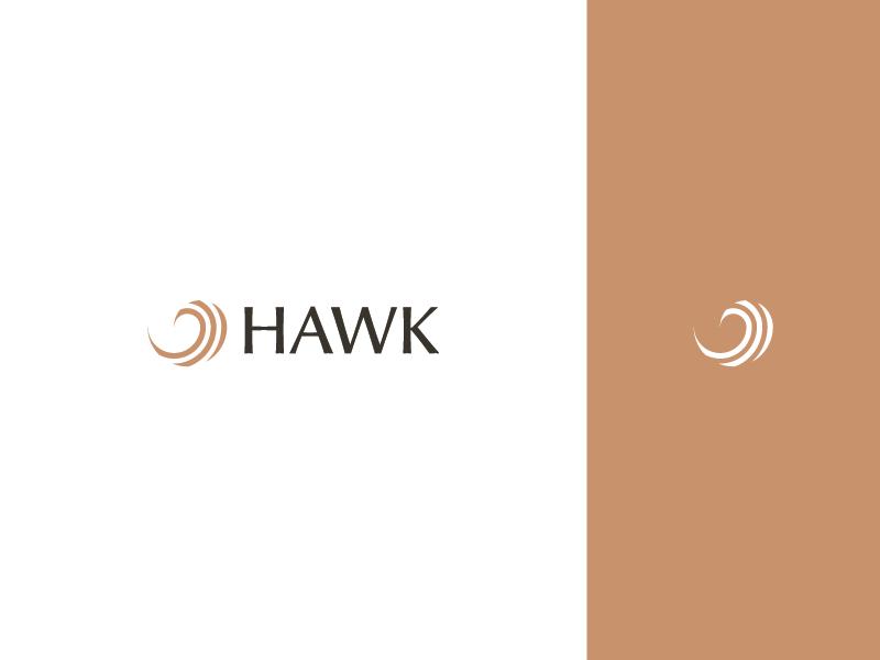 Hawk Logo & Type typeface brown bird hawk brand logodesign identity design modern illustrator icon minimalist logo design identity design branding brand identity logos logo