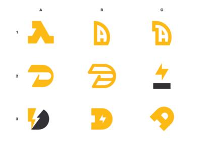"""Ala Denov"" Logo Options."