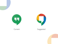 """Google Hangouts"" Current Logo Vs Suggested"