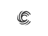 "Letter ""C"" with stripes."