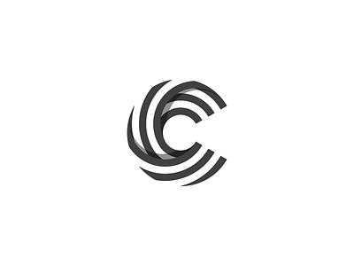 "Letter ""C"" with stripes. letter grey logo c logo stripes letter c illustrator modern icon minimalist logo design identity design branding brand identity logos logo"