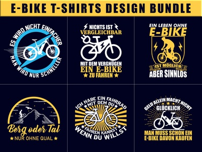 E Bike T-Shirts Design Bundle