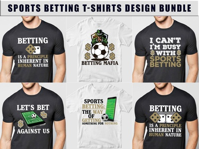 Sports Betting T-Shirts Design Bundle