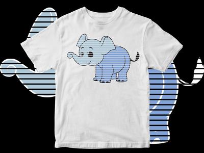 Elephant Motif T-Shirt Design