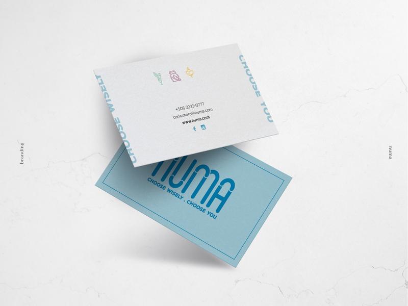 Business Cards Numa wellness wellbeing business card brand identity flatdesign design branding