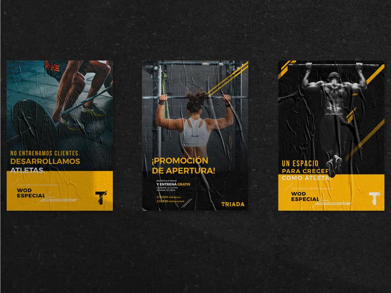 Fitness Center Triada wod crossfit triada branding design print poster design poster fitness center fitness brand design branding