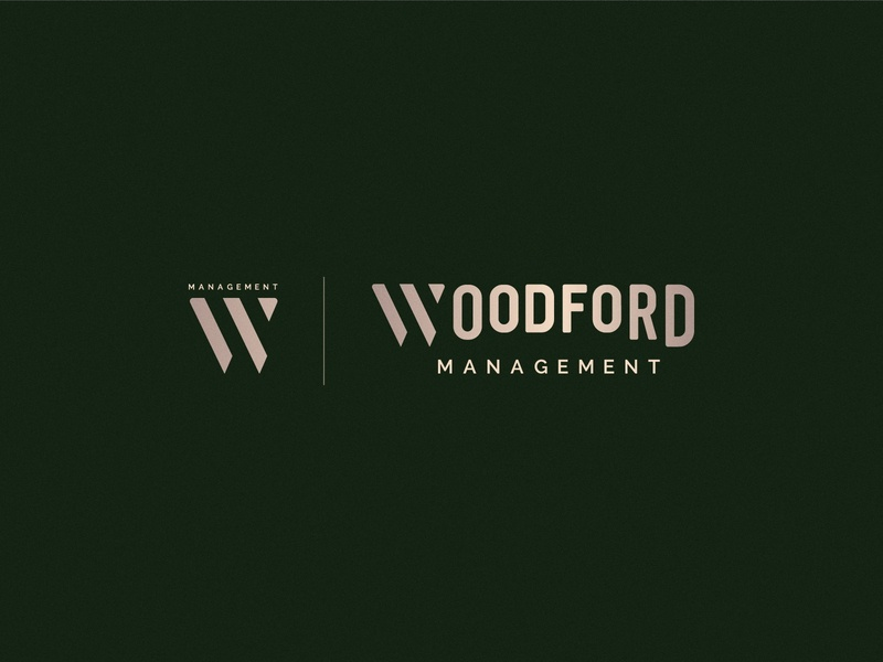 Woodford Branding brand design woodford logo design typoraphy management minimal logotype logo branding