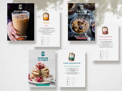 Peanut Butter The Caveman - Recipes branding design design tasty labels recipes cards minimal peanut butter branding