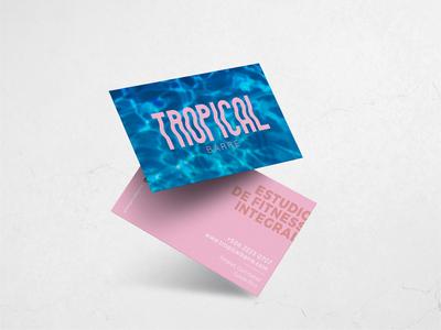 Business Cards - Tropical Barre cards tropical fitness center fitness branding design barre branding business card