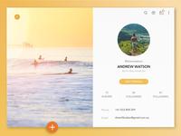 Daily UI I User Profile 006