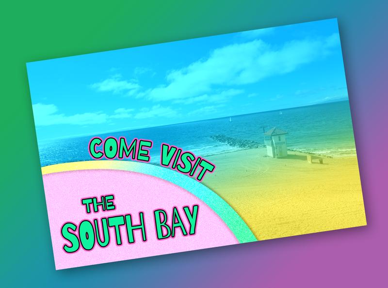 South Bay Postcard postcards gradient beach postcard south bay