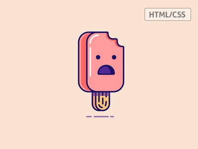 Ice-Cream in CSS css illustration ice-cream rebound html code front-end flat clean