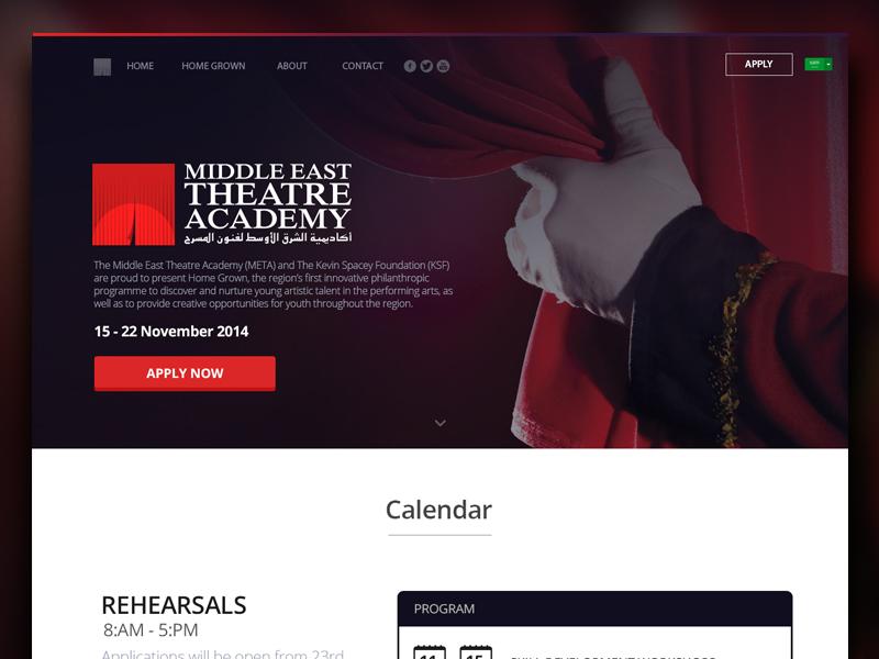 META - Landing Page 2 form clean flat web-design uiux landing spacy keven theatre middle-east