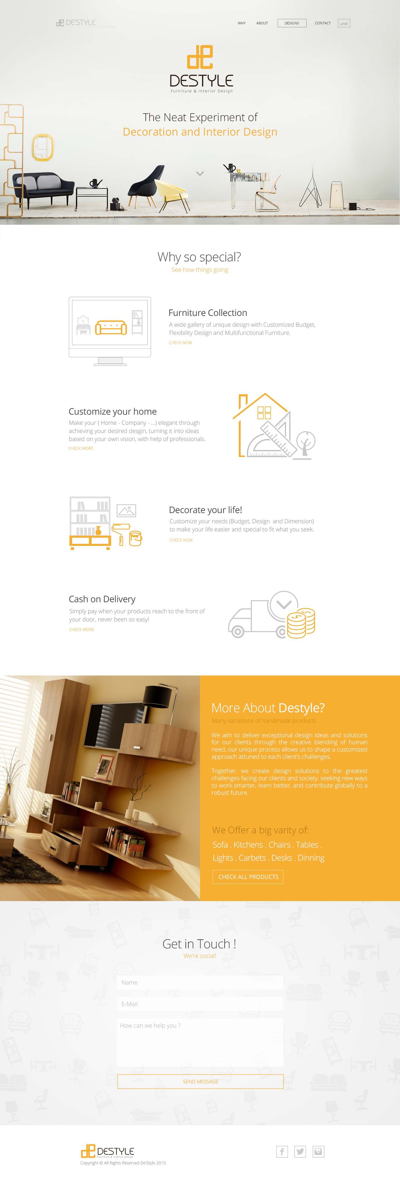 Destyle landing page full