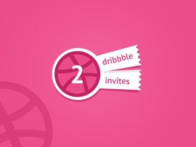 Dribbble Invites give away pink tickets dribbble invite