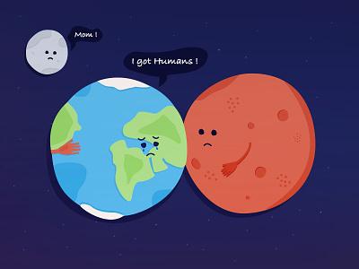 Sadly Said .. cry planets mars sad humans space moon earth