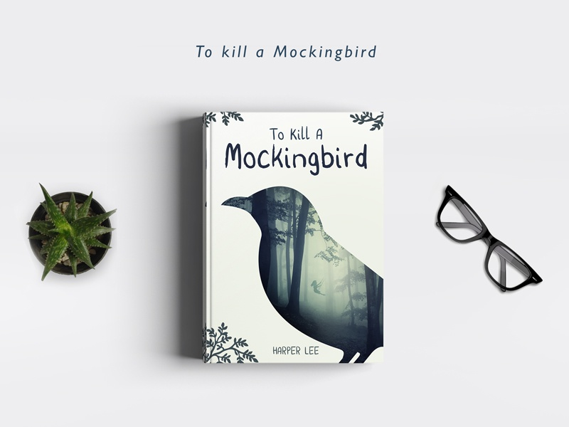 To Kill a Mockingbird double exposure book cover to kill a mockingbird covers books redesign mockingbird