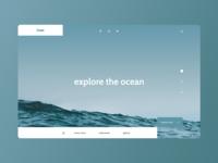 Ocean: Explore the Ocean Concept Site | Daily UI 03
