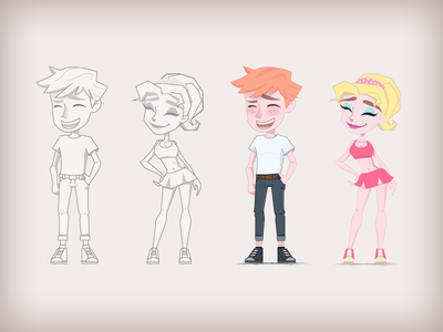Cartoon Boy&girl