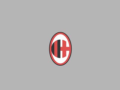 Milan milano soccer minimal logo football crest milan acmilan