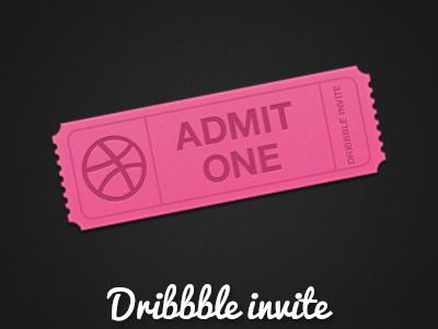 Dribbble invite dribbble invite web graphic ticket noise