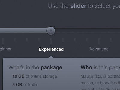 Product slider ui slider dark web webdesign graphic product noise design interface ux user experience