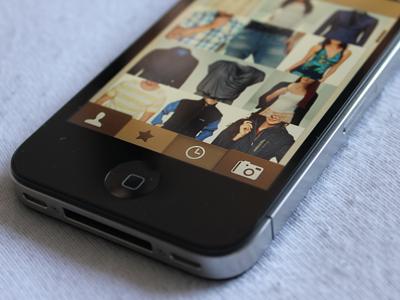Styles app fashion style clothes app photo ui ux camera design leather texture app design