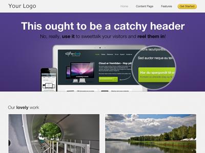 Landing page template design landing portfolio testimonial website web ui purple grey light theme apple landing page home page ui design gridfog