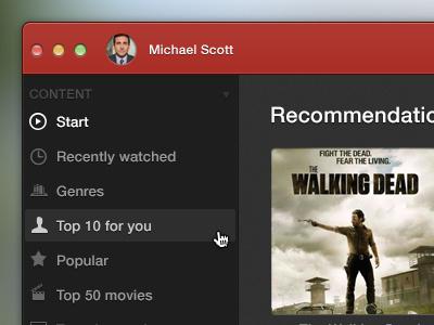 Netflix for Mac ui app gui red netflix videos media mac