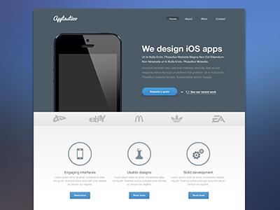 Apptastico - A freebie web design freebie ui ux cta button blue light website webdesign web free app download template webtemplate landing landing page design