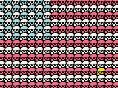 American Skull Flag