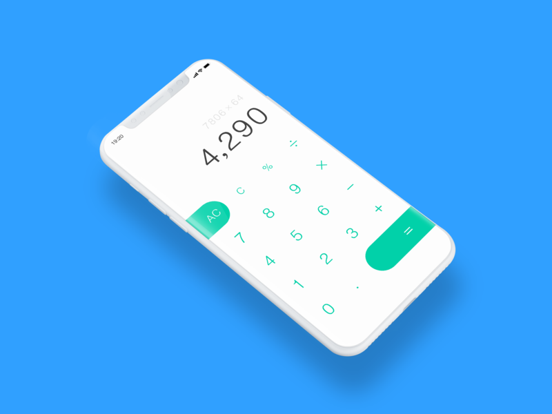 #004 Calculator app dailyui ui design