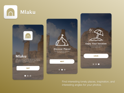 Mlaku Travel App - Onboarding Page