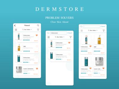 Dermstore Beauty App - List View